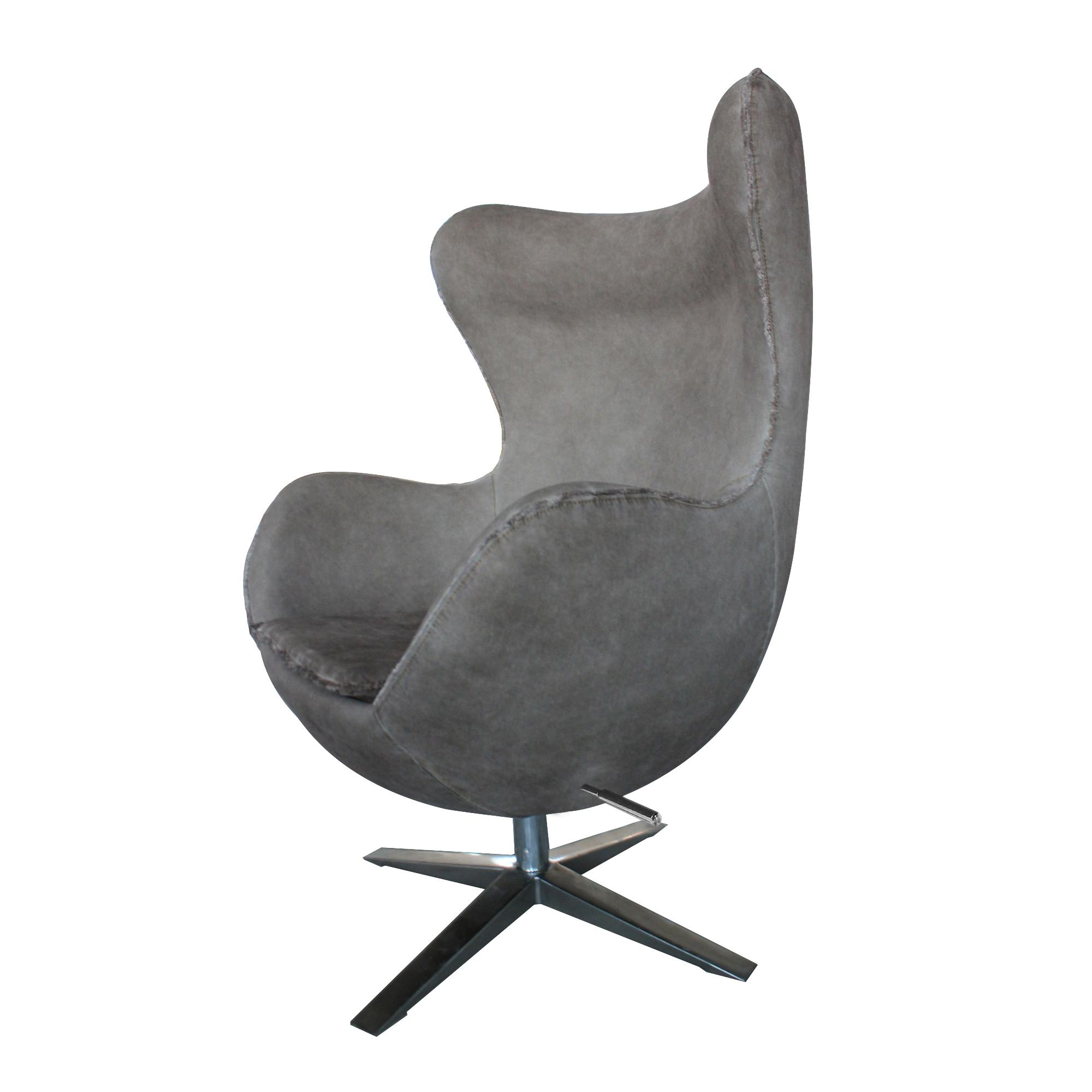 The Denim Gray Swivel Egg Chair Is A Womb Like Chair That Offers Comfort  Like ...